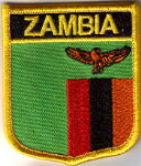 Zambia Embroidered Flag Patch, style 07.